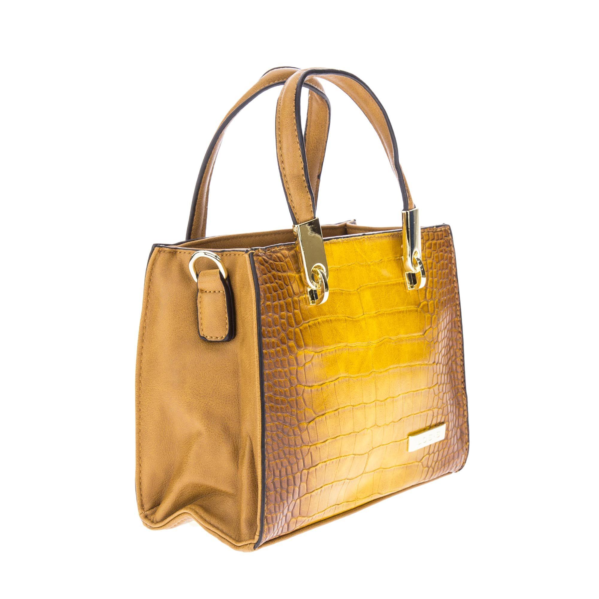 Bolsa de Mão Mini Bag Amarela Dourado com Alça Removível  - Prime Bolsas
