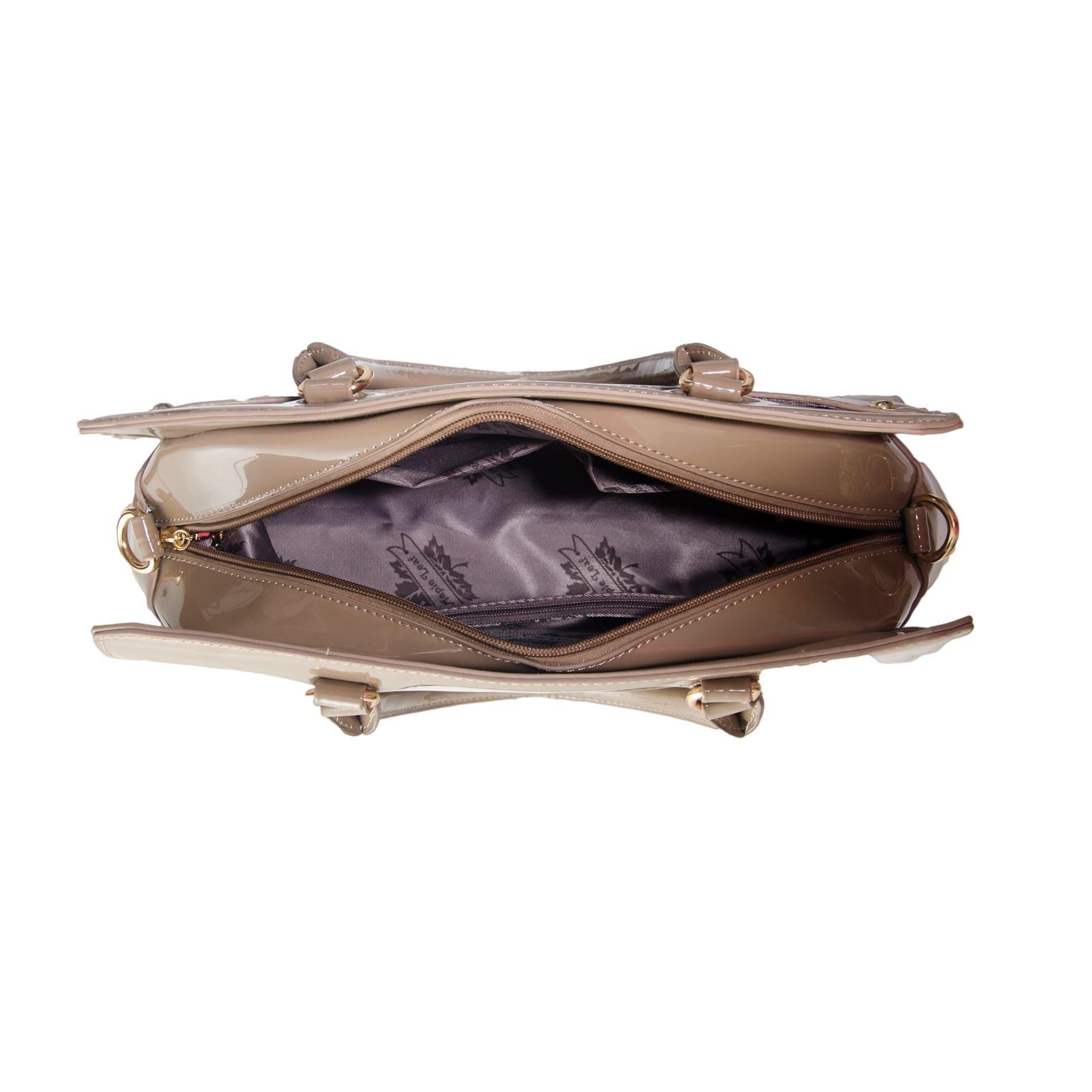 Bolsa de Mão Verniz Caqui com Alça Removível e Bolsa Carteira Clutch  - Prime Bolsas