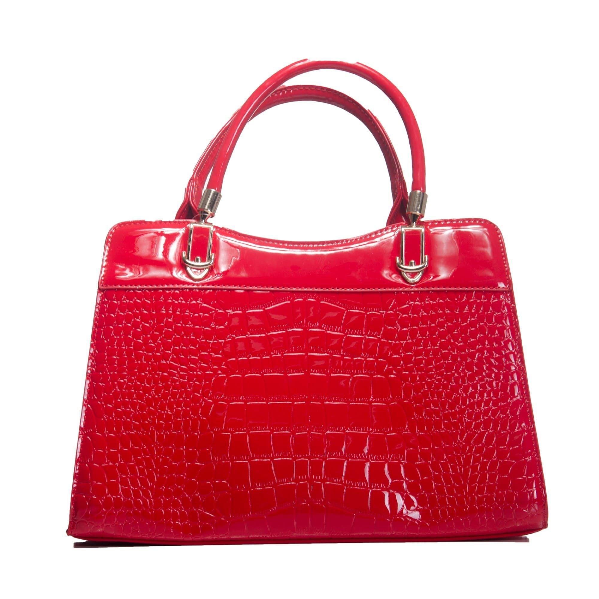 Bolsa de Mão Verniz Vermelha com Alça Removível e Bolsa Carteira Clutch  - Prime Bolsas