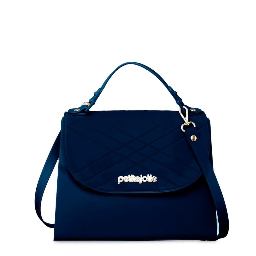 Bolsa Petite Jolie Bing Alça Regulável Bolso Interno PJ4879 Pequena Azul  - Prime Bolsas