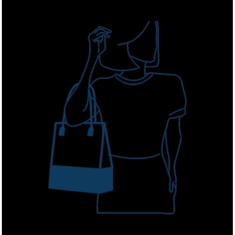 Bolsa Petite Jolie Longa Shopper PJ4999 Marrom Café  - Prime Bolsas
