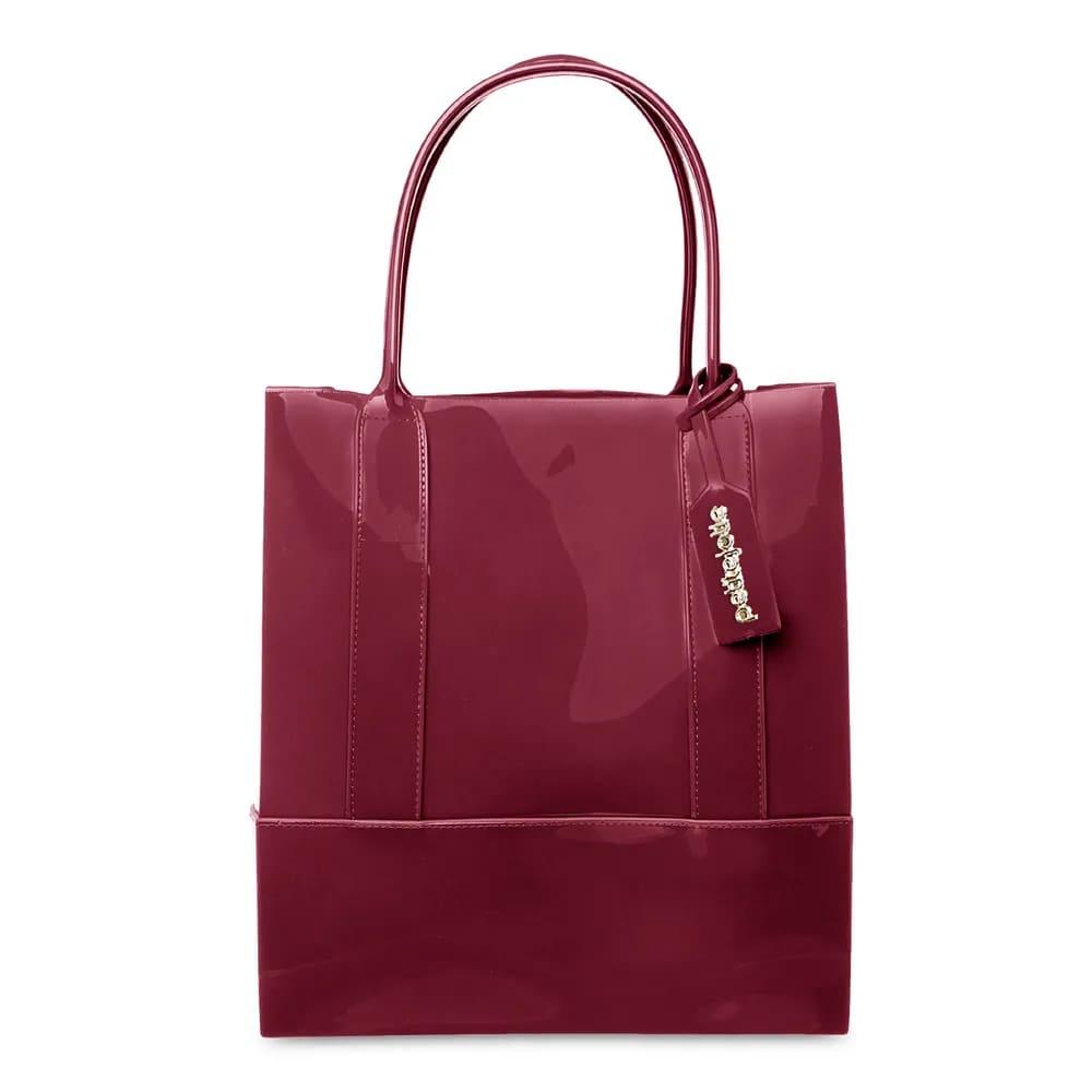 Bolsa Petite Jolie Longa Shopper PJ4999 Vinho  - Prime Bolsas