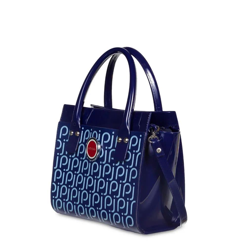 Bolsa Petite Jolie Love Bag PJ4448 Azul com Logo PJ  - Prime Bolsas