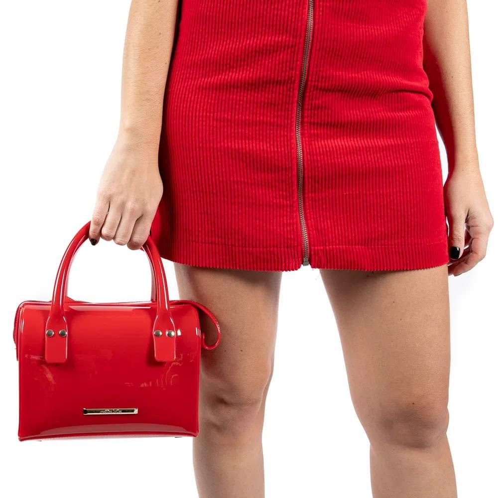 Bolsa Petite Jolie Média Maletinha Modelo Lana  Vermelha  - Prime Bolsas