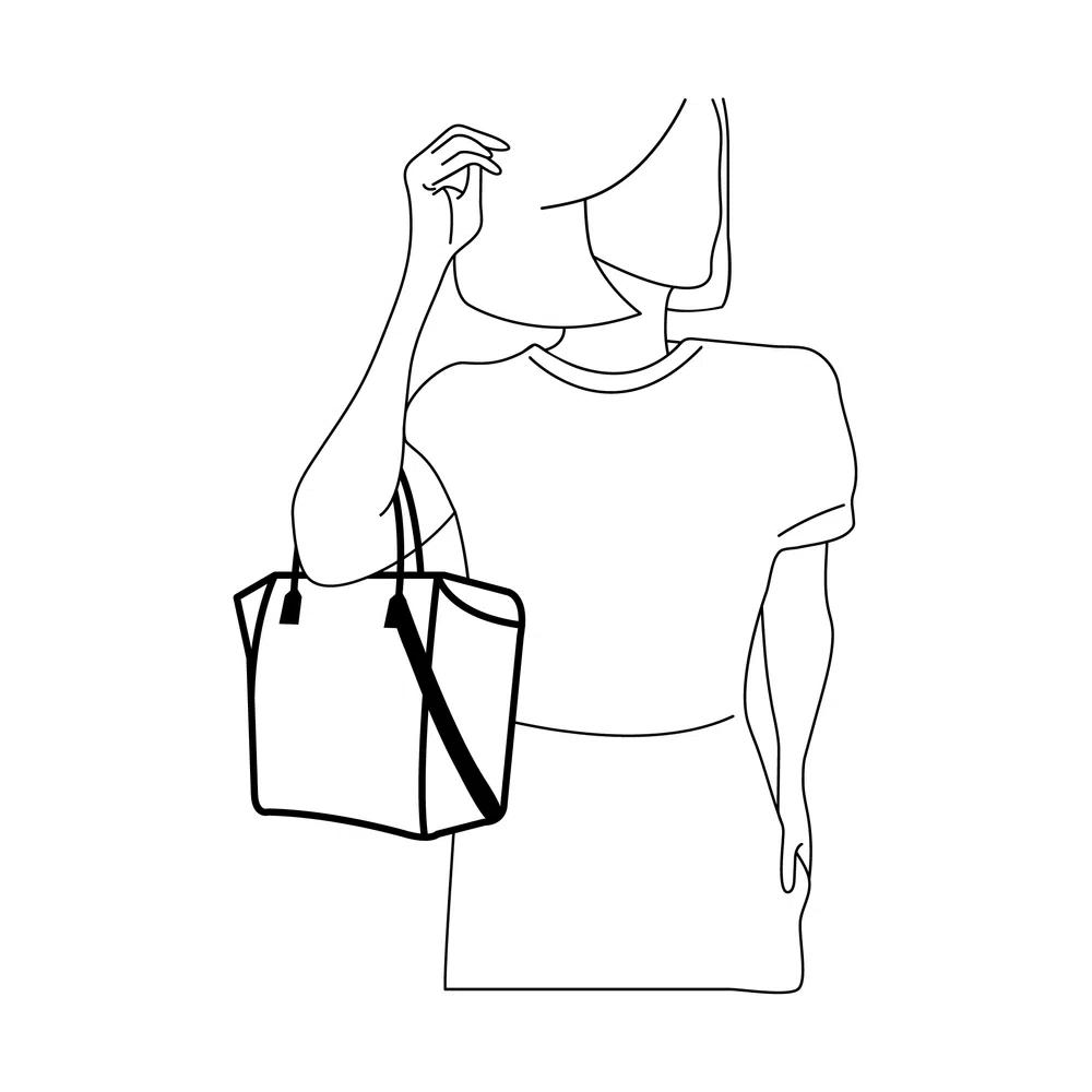 Bolsa Petite Jolie Shape bag PJ3939 Nude  - Prime Bolsas