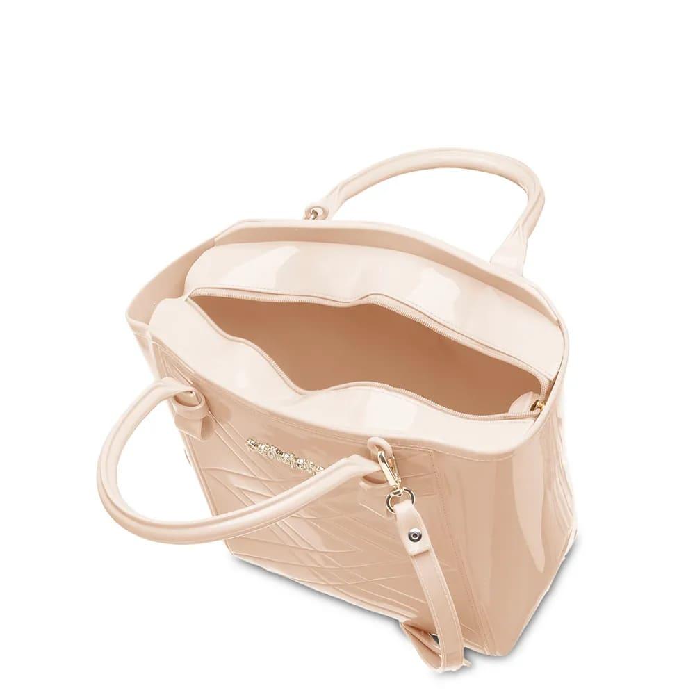 Bolsa Petite Jolie Shape Nude Bege PJ4778  - Prime Bolsas