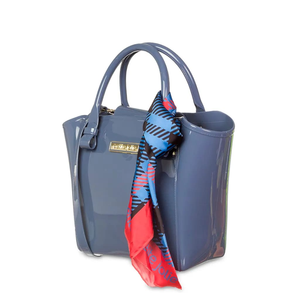 Bolsa Petite Jolie Shape PJ4223 Azul Acinzentado   - Prime Bolsas