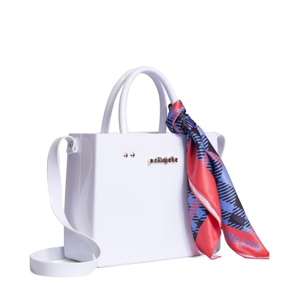 Bolsa Petite Jolie Stella Branca com Lenço PJ3988