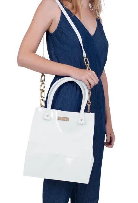 Bolsa Shopper Petite Jolie Branca  - Prime Bolsas