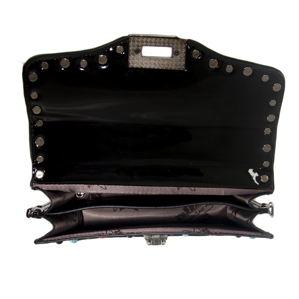 Bolsa de Mão Verniz Preta com Alça Removível  - Prime Bolsas