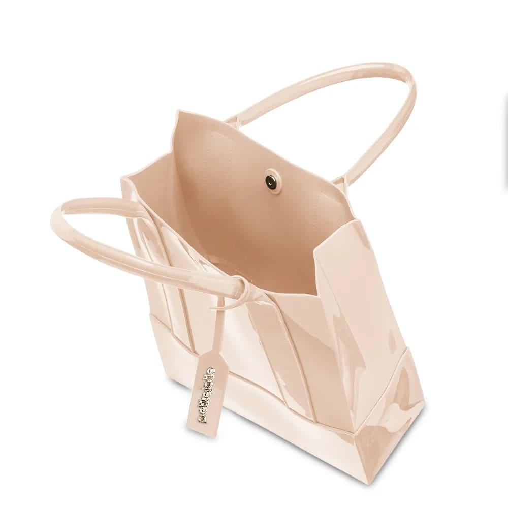 Bolsa Petite Jolie Longa Shopper PJ4999 Nude Bege  - Prime Bolsas