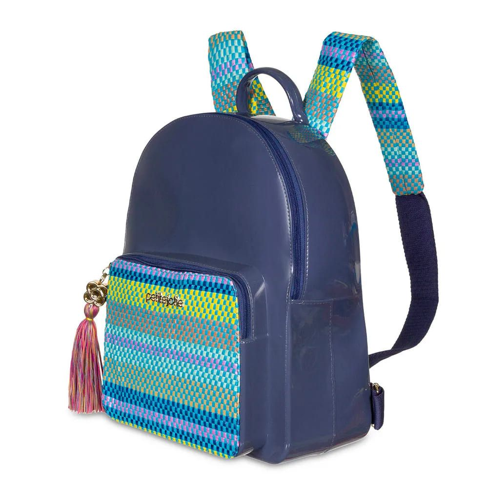 Mochila Petite Jolie Kit Lançamento Azul Acinzentado/Multicolor PJ4745  - Prime Bolsas