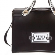 Bolsa Média Petite Jolie Lana PJ10298 Preto com Branco