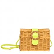Bolsa Pequena Petite Jolie Capri PJ10290  New Palha com  Amarelo Neon