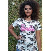 Camiseta Básica Camuflada Barbie