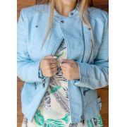 Jaqueta Feminina Sintético Azul Claro