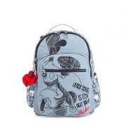 Mochila Kipling Seoul Go Azul Jeans Mickey
