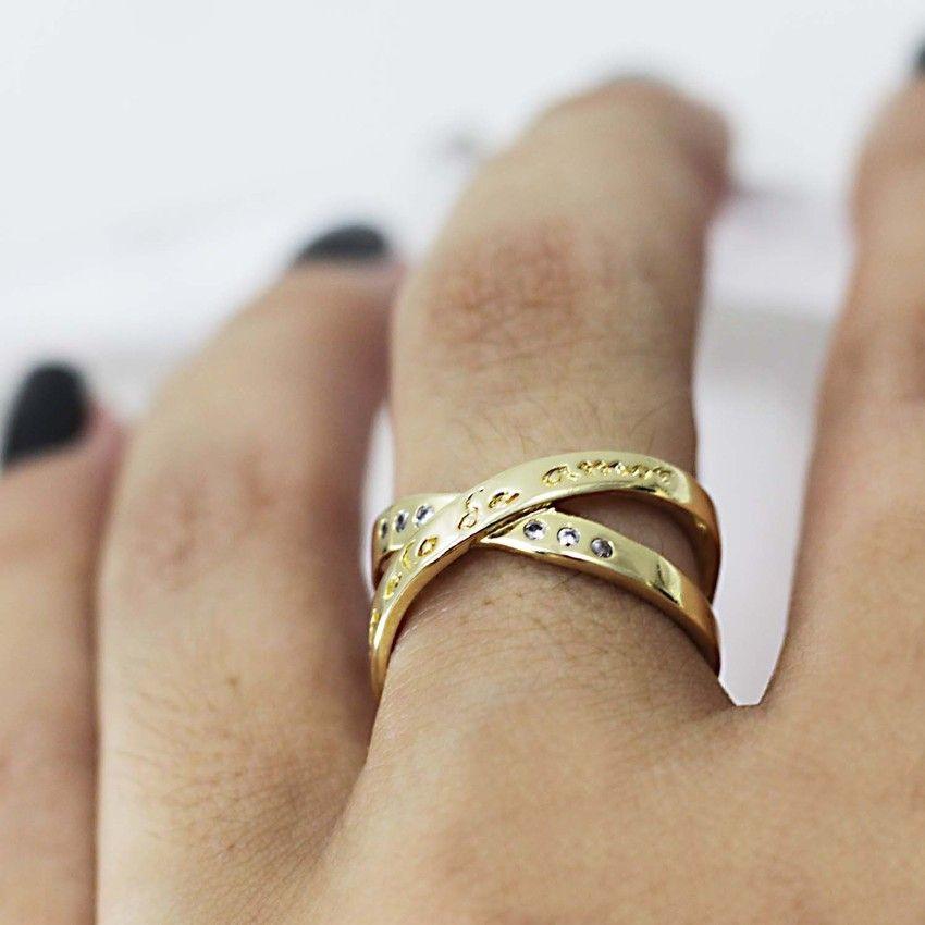 Anel Um Elo De Amor Dourado