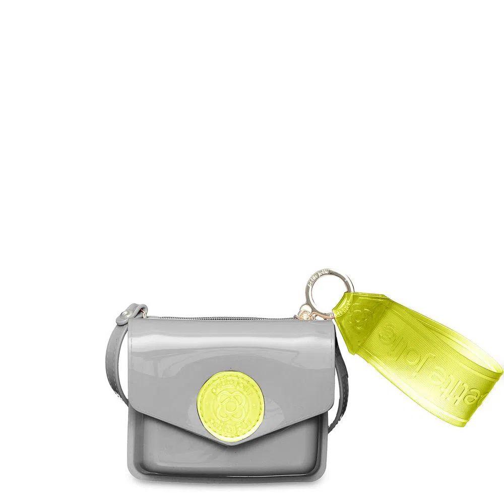 Bolsa/Carteira Petite Jolie Ruby Cinza e Verde Abacate PJ10040