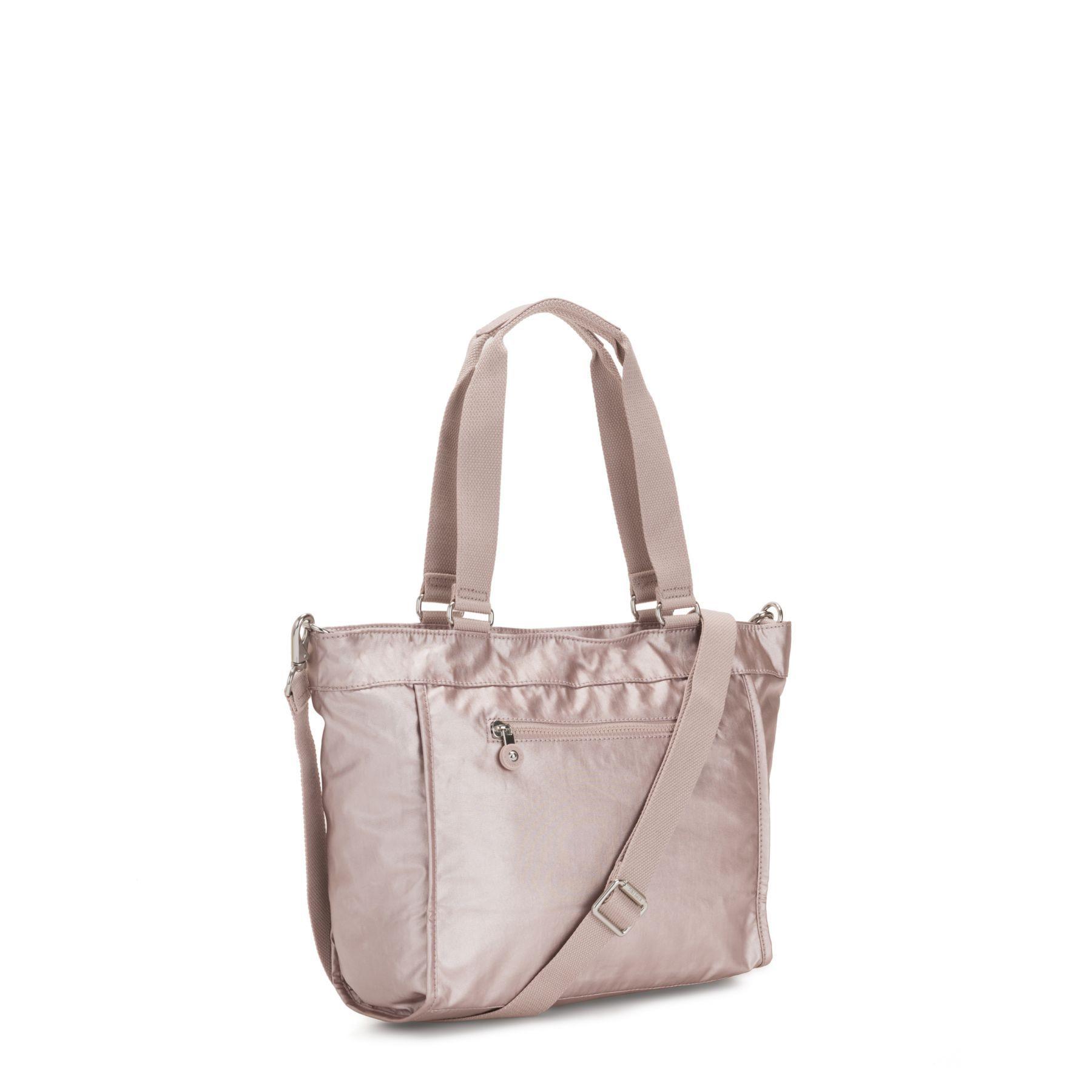 Bolsa de Ombro New Shopper Kipling Metallic Rose
