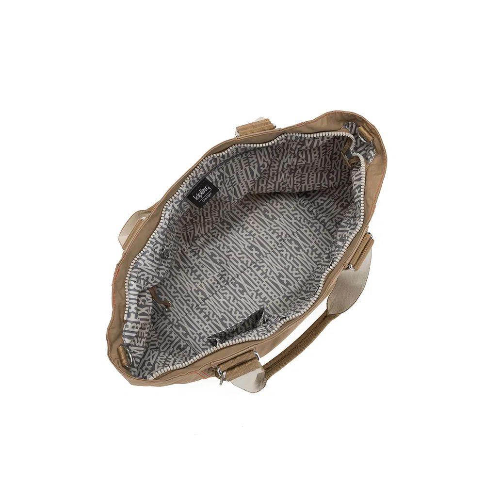 Bolsa de Ombro Shopper Kipling Sand Bl
