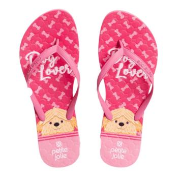Bolsa e Chinelo Recolorir PJ10256 Dog Lover Rosa Neon