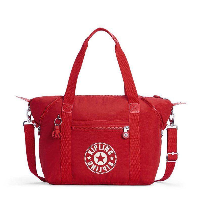 Bolsa Grande Kipling Art Lively Red Vermelho
