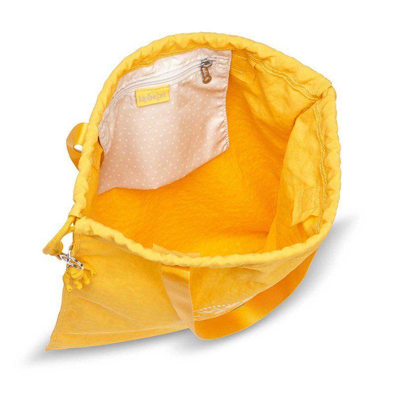Bolsa Grande New Hiphurray Kipling Lively Yellow Amarelo