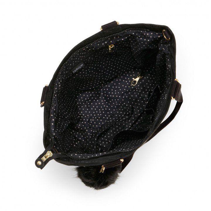 Bolsa Grande New Shopper Kipling Black Pylon Emb