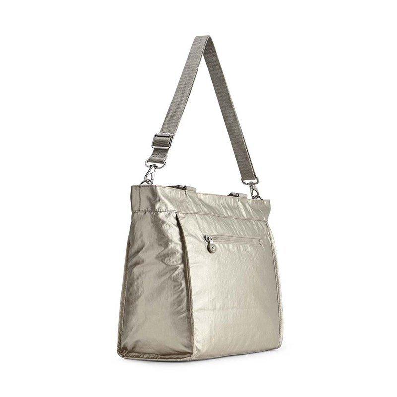 Bolsa Grande New Shopper L Kipling  Silver Beige  ♥ New ♥