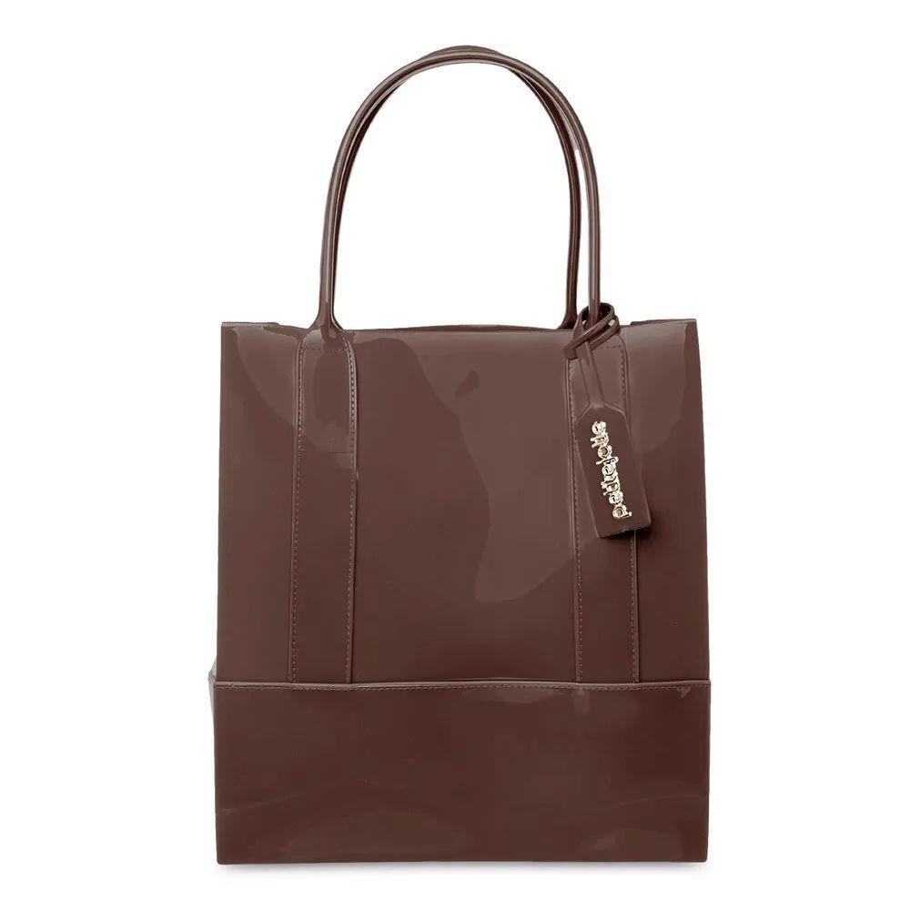 Bolsa Grande Shopper Petite Jolie PJ4999 Marrom
