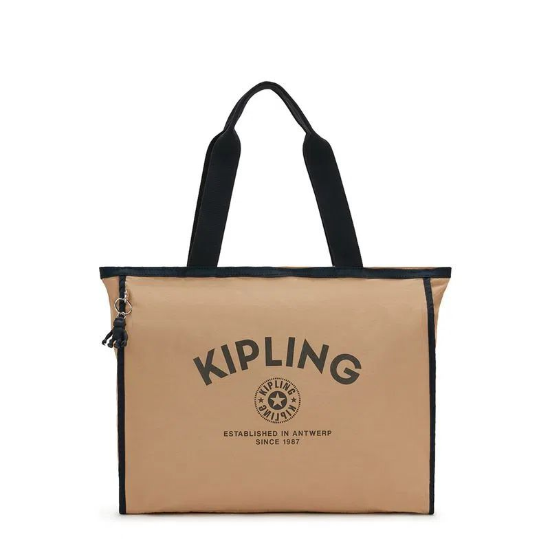 Bolsa Grande Stacey Kipling Vibrant Beige M