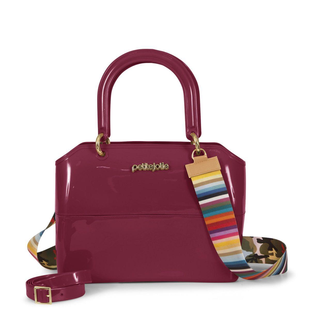 Bolsa Média Petite Jolie Zip Bag Pj3177 Bordô