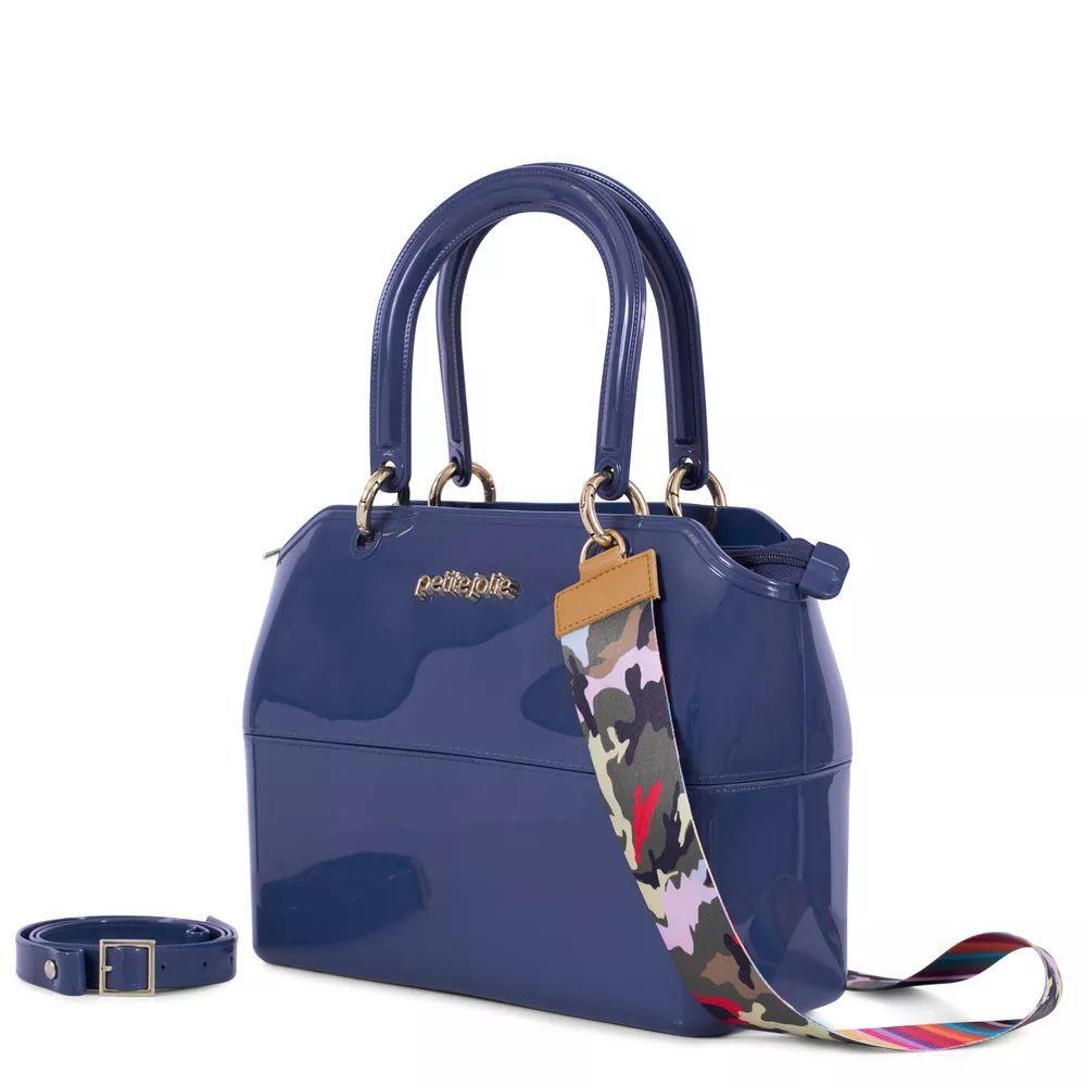 Bolsa Média Petite Jolie Zip Bag Pj3177 Navy
