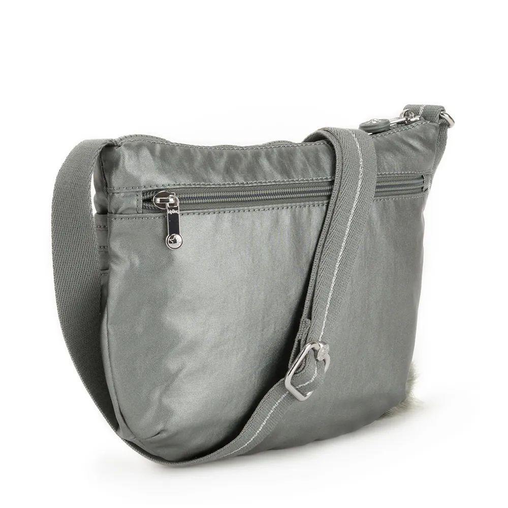 Bolsa Pequena Arto S Kipling Metallic Stony