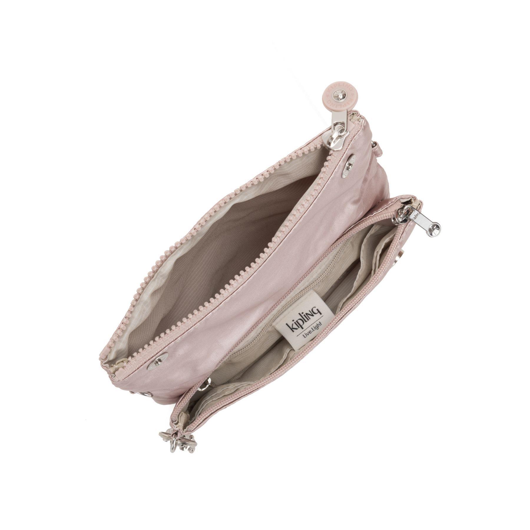Bolsa Pequena e Pochete Kipling Lynne Metallic Rose