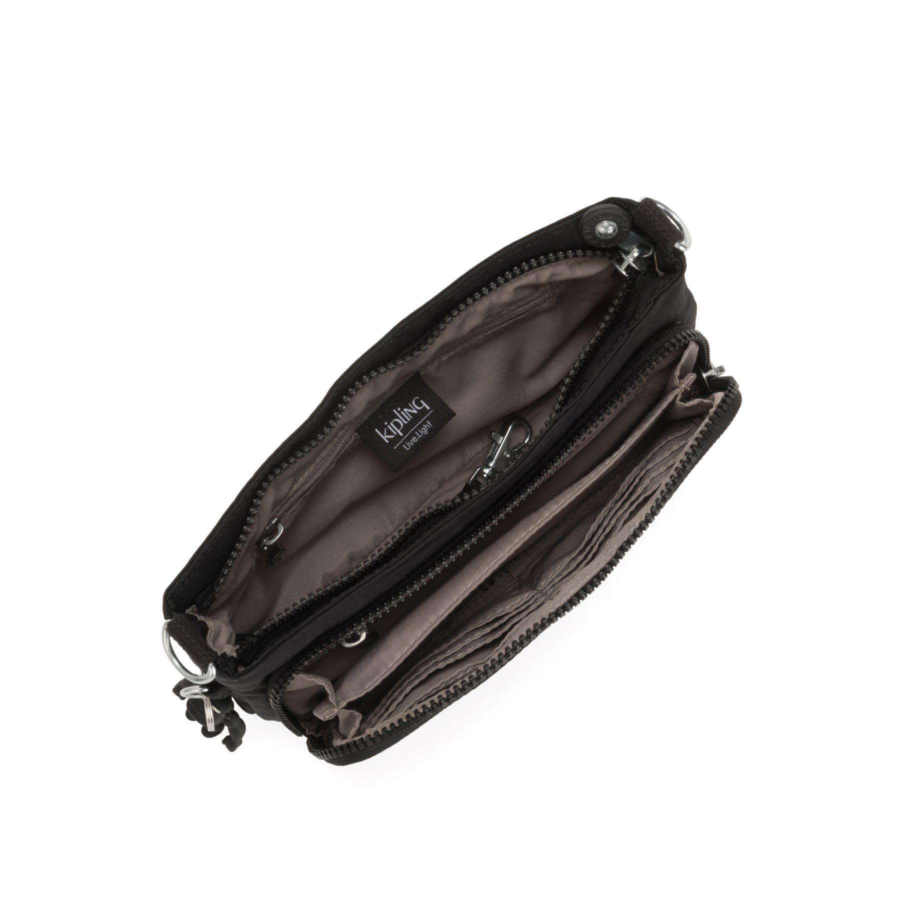 Bolsa Pequena Kipling Myrte Black Noir