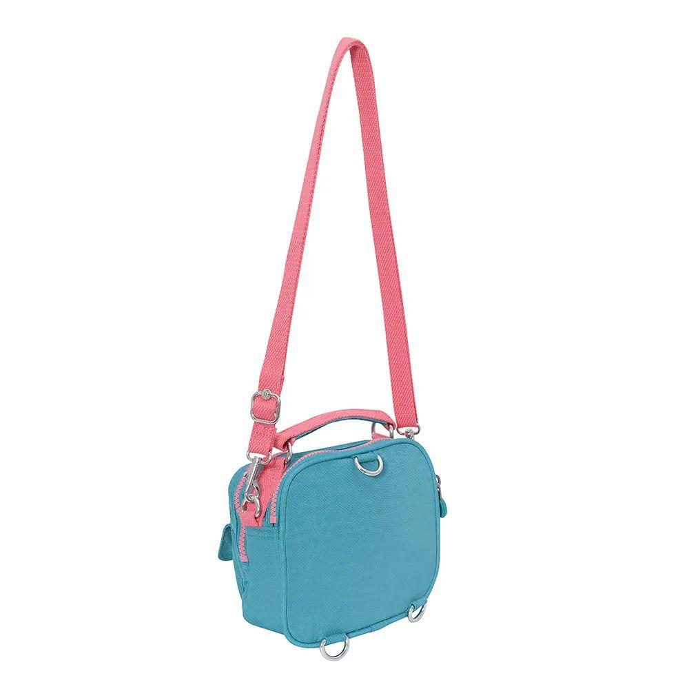 Bolsa Pequena Kipling  Puck  Turquoise Sea