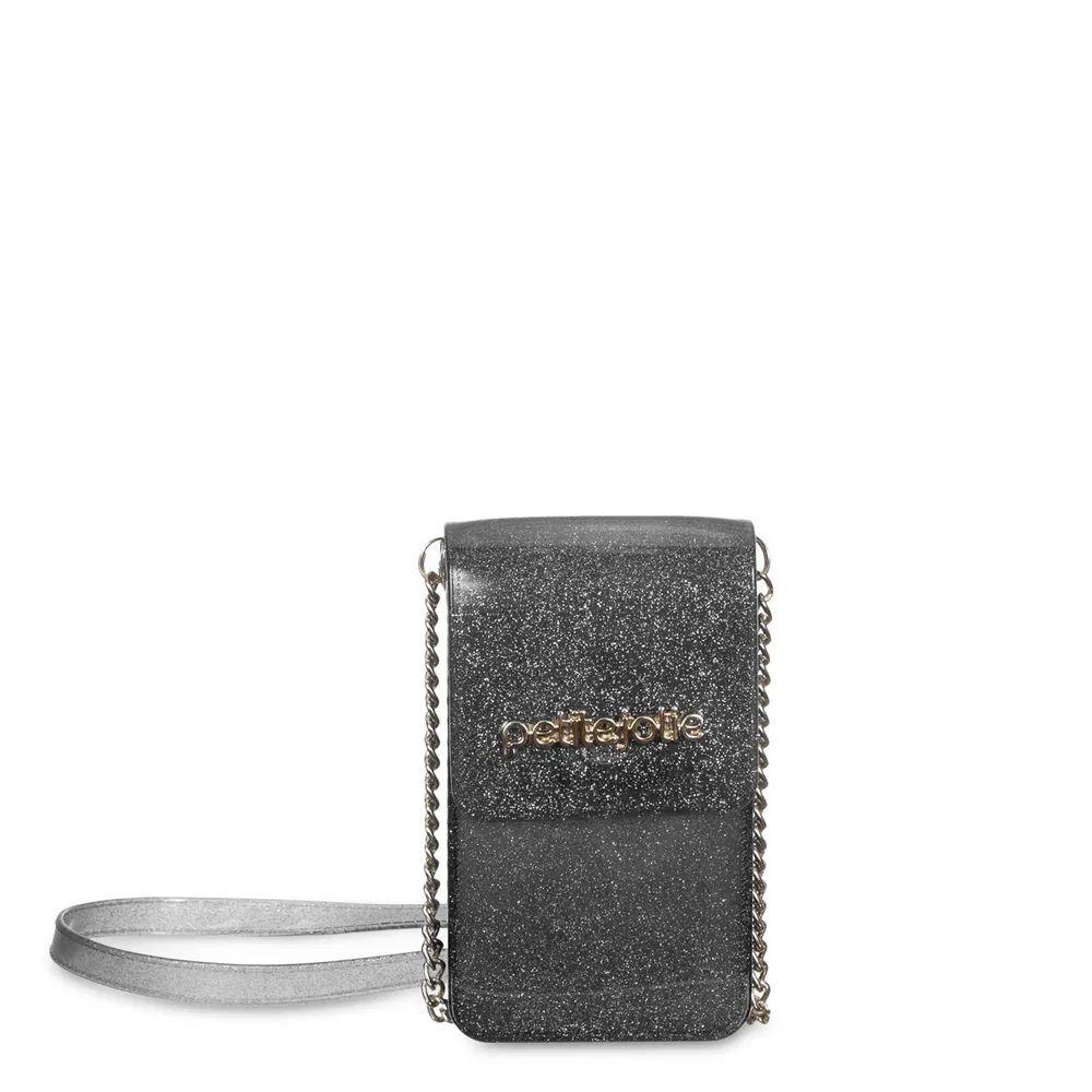 Bolsa Pequena Phone Case Petite Jolie  PJ4812  Preto Glitter