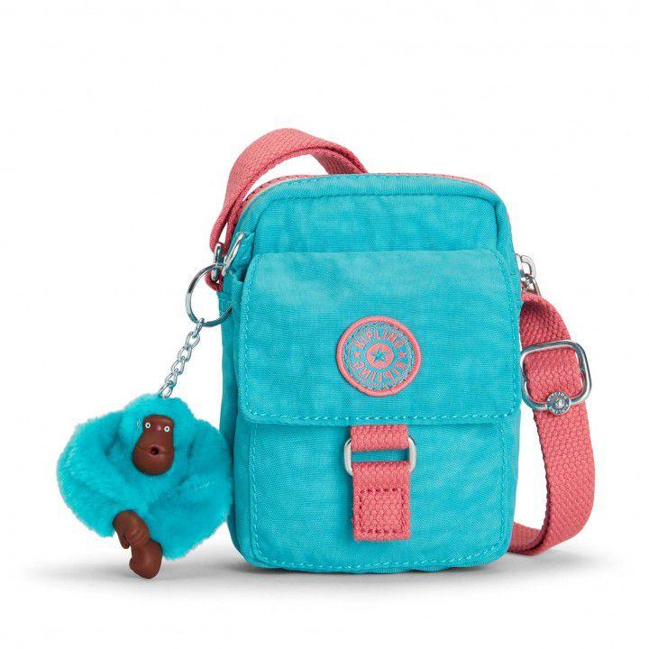Bolsa Pequena Teddy Kipling Bright Aqua C