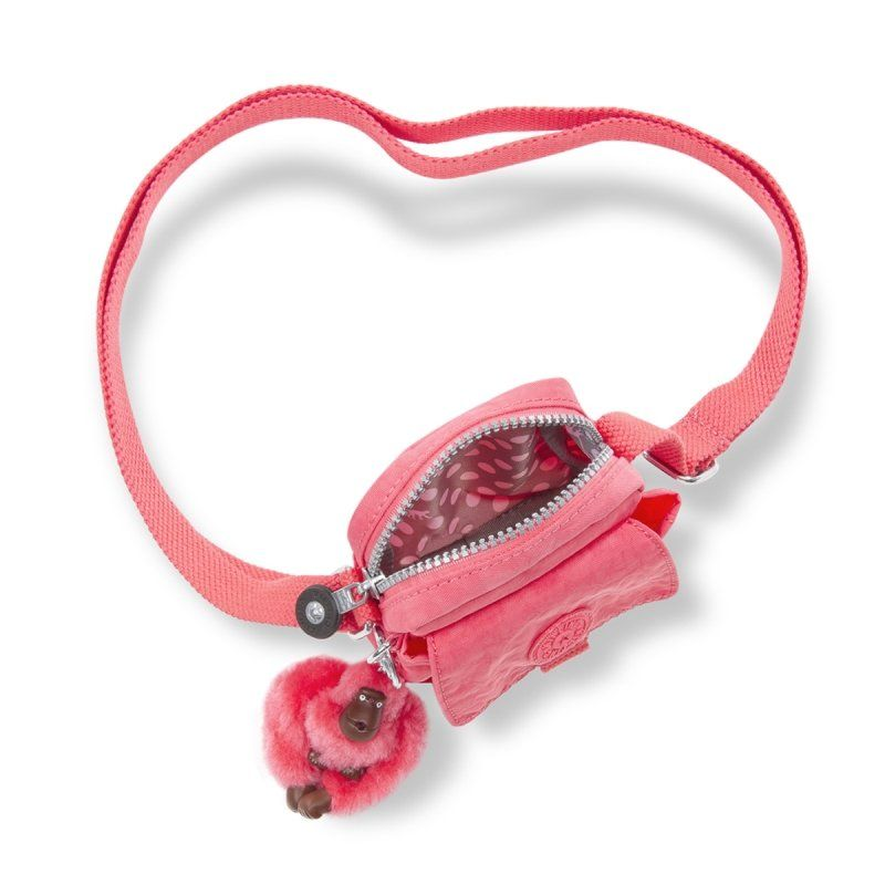 Bolsa Pequena Teddy Kipling Pink Coral
