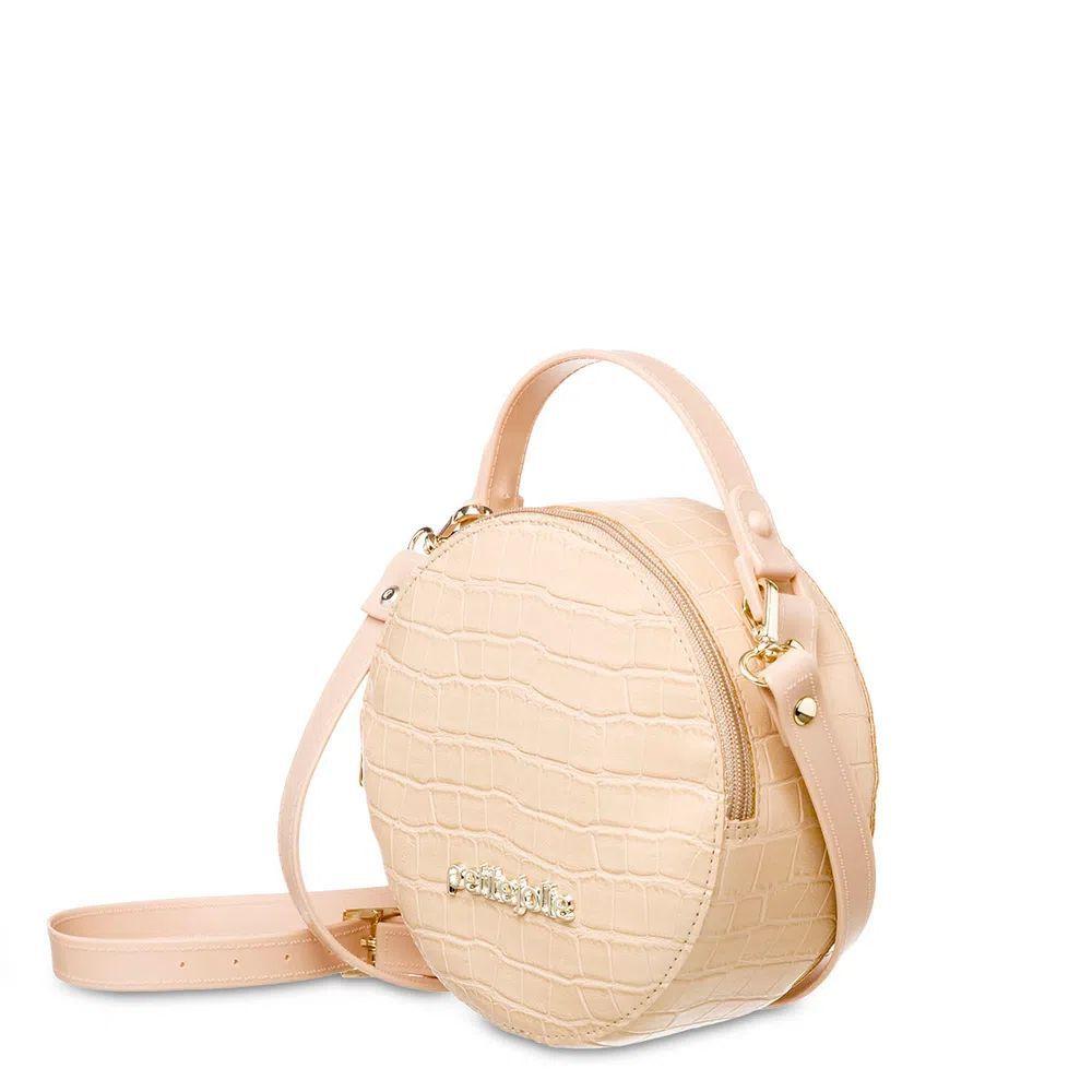 Bolsa Pequena Tiracolo Mini Round Petite Jolie PJ4871 Nude