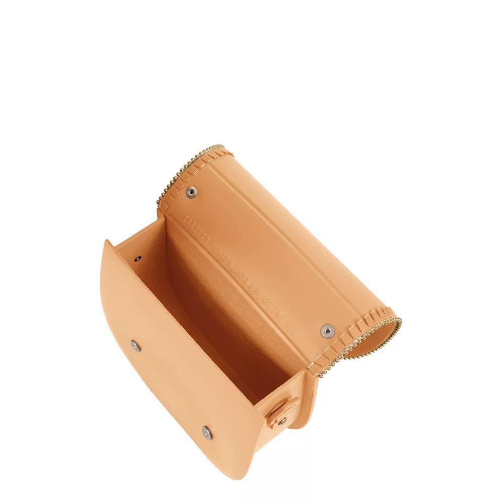 Bolsa Pequena Tiracolo Petite Jolie Saddle Pj3199  Nude Detalhe Dourado