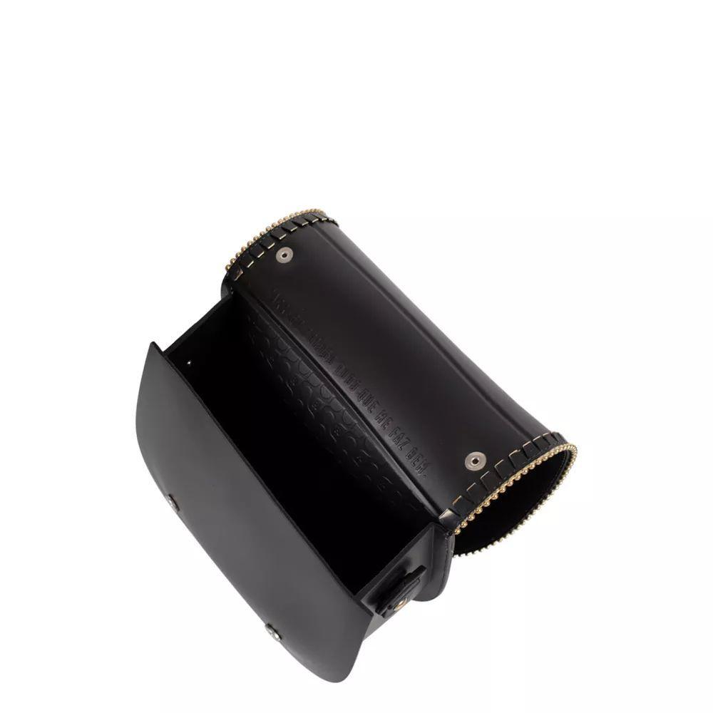 Bolsa Pequena Tiracolo Petite Jolie Saddle Pj3199  Preto Detalhe Dourado
