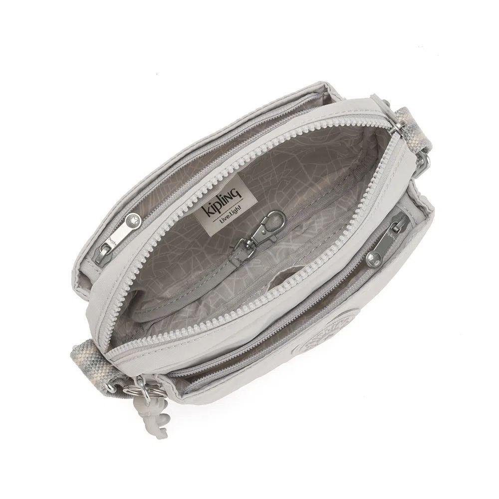 Bolsa Pequena Transversal Abanu Kipling Curiosity Grey