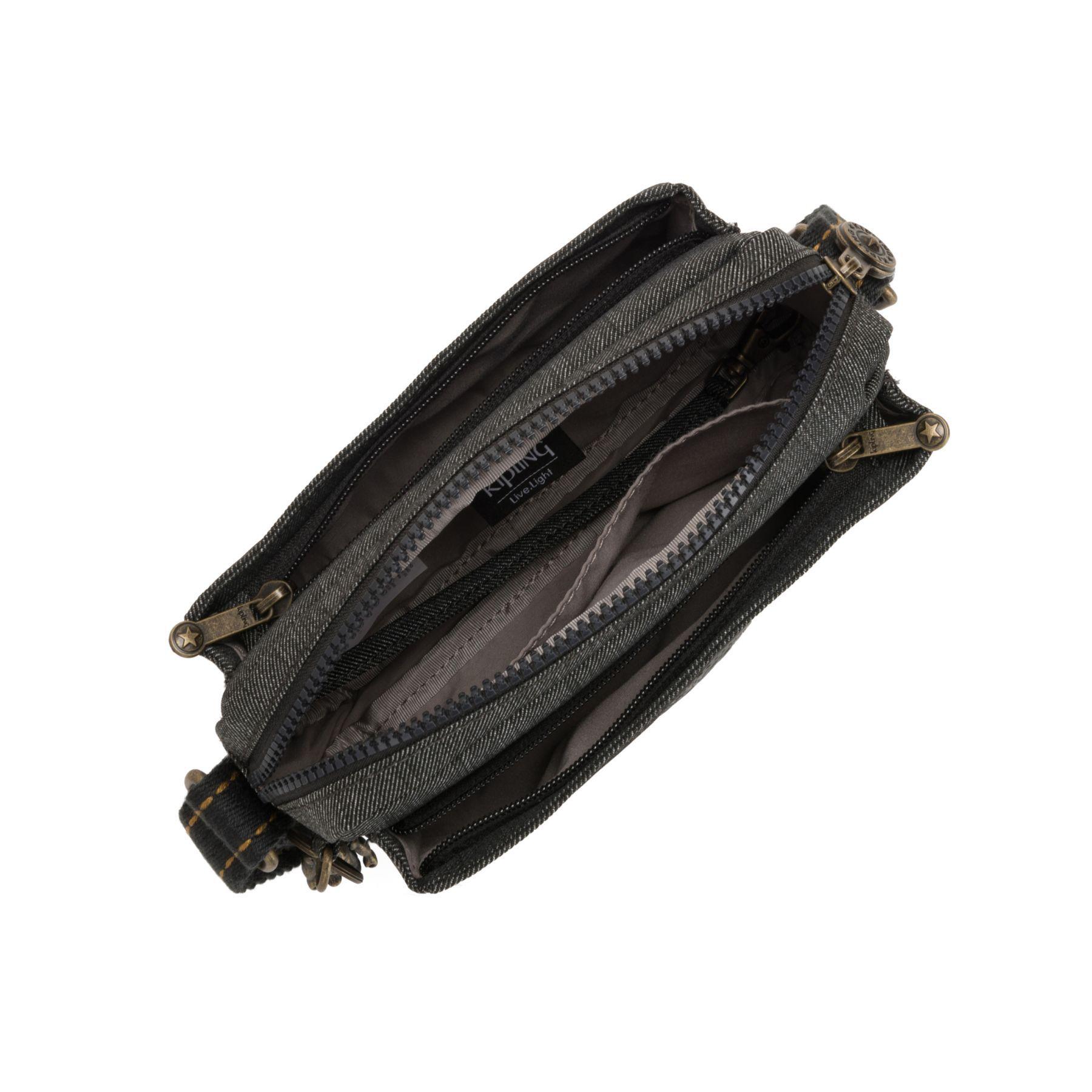 Bolsa Pequena Transversal Kipling Abanu Black Indigo