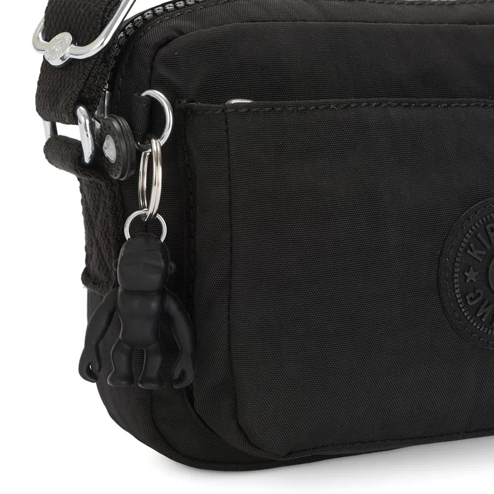 Bolsa Pequena Transversal Kipling Abanu Black Noir