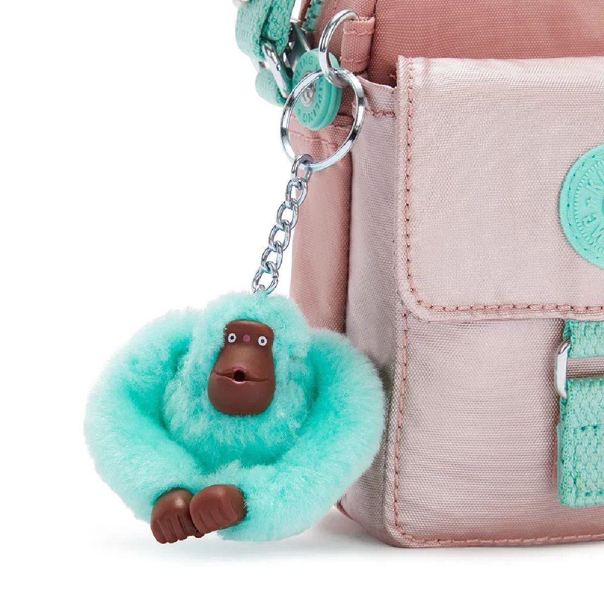 Bolsa Pequena Transversal Teddy Kipling Cotton Candy Bl