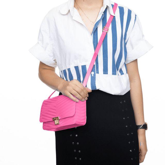 Bolsa Petite Jolie Hanna PJ10212 Rosa Neon