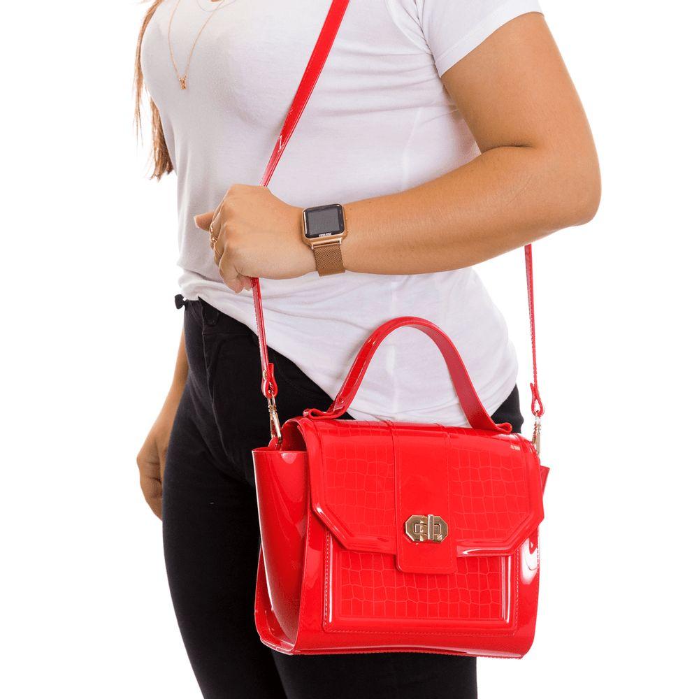 Bolsa Petite Jolie London PJ10229 Vermelho Hibisco